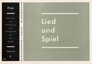 LIED UND SPIEL: HEFT 7, OBERSTUFE FUER STABSPIELE UND SCHLAGWERK