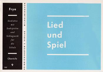 LIED UND SPIEL: HEFT 9, OBERSTUFE FUER STABSPIELE UND SCHLAGWERK