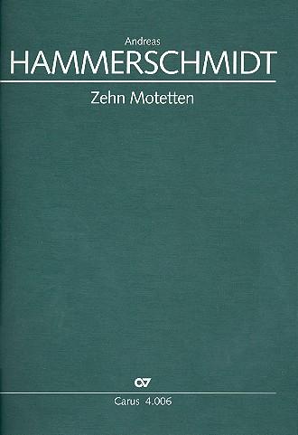 10 Motetten: für gem Chor und Instrumente Partitur