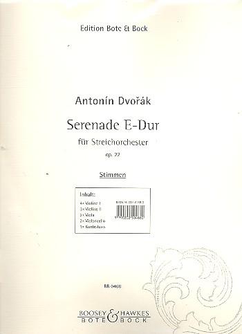 Dvorák, Antonín - Serenade E-Dur op.22 : für