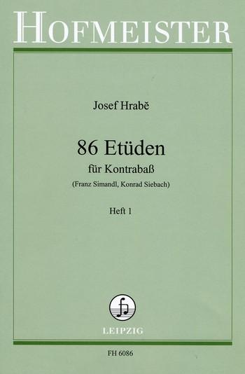 Hrabe, Joseph - 86 Etüden Band 1 (Nr.1-44) :