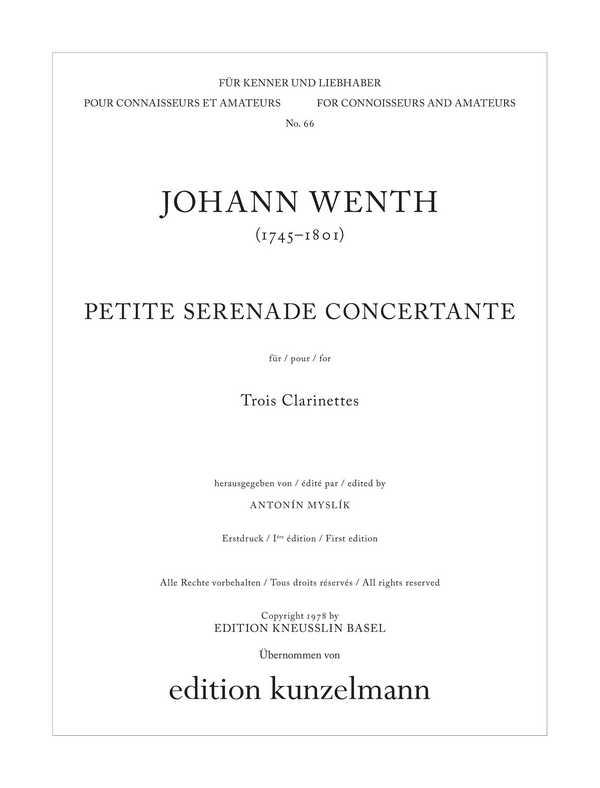 Petite sérénade concertante: für 3 Klarinetten