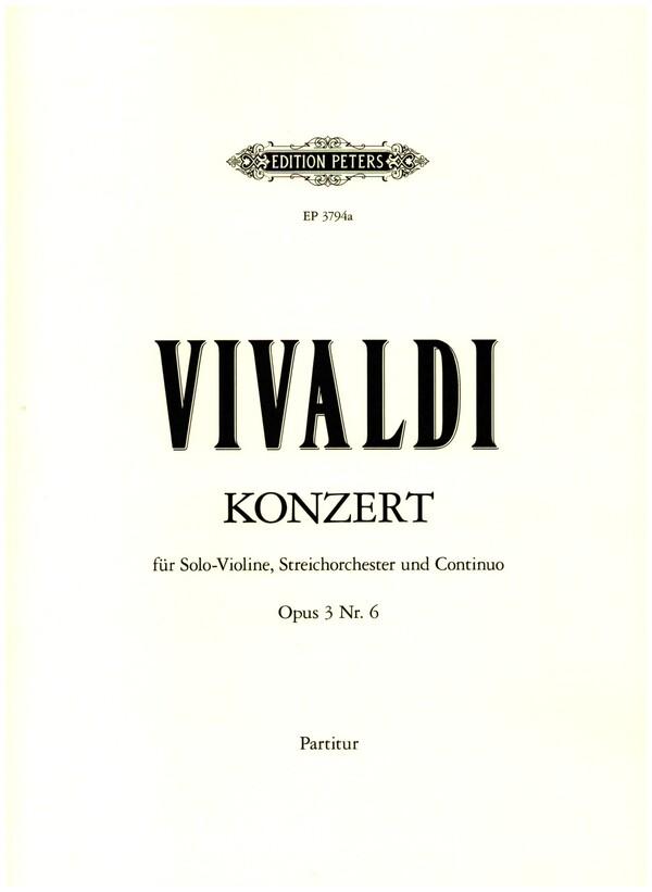 Vivaldi, Antonio - Konzert a-Moll op.3,6 RV356 :