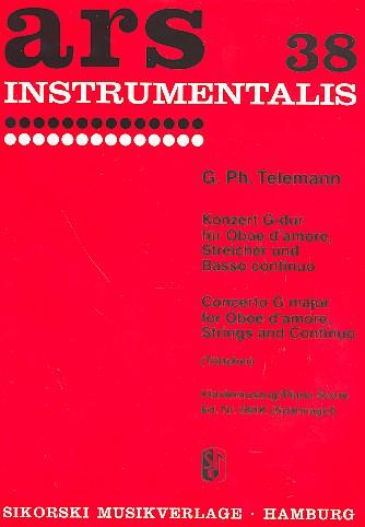 Konzert G-Dur TWV51:G3: für Oboe d\