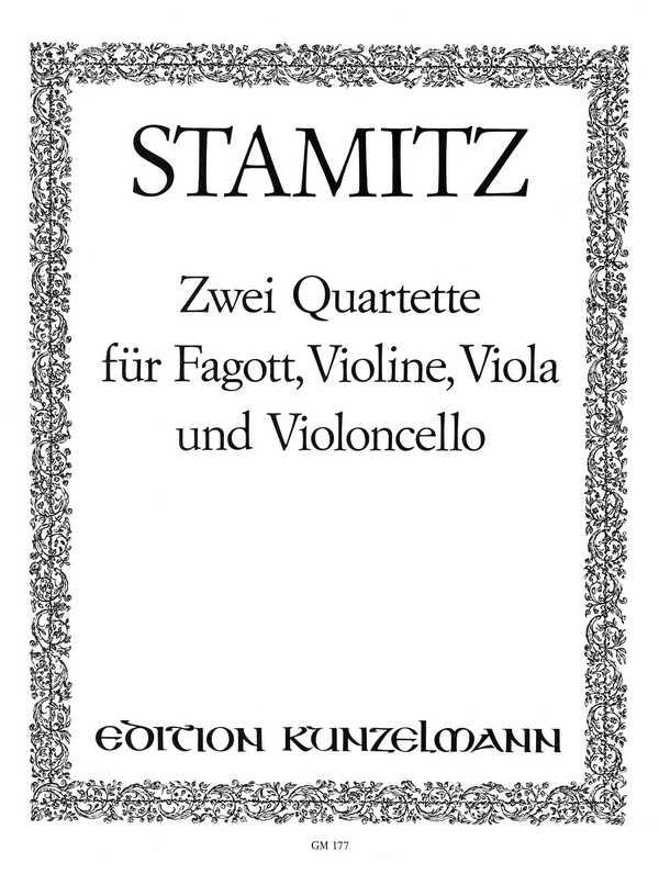 2 Quartette opus.19,5-6: für Fagott, Violine, Viola und Violoncello