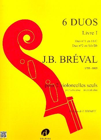 6 duos vol.1: pour 2 violoncelles partition