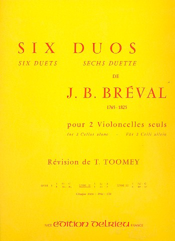 6 Duos vol.2: pour 2 violoncelles partition