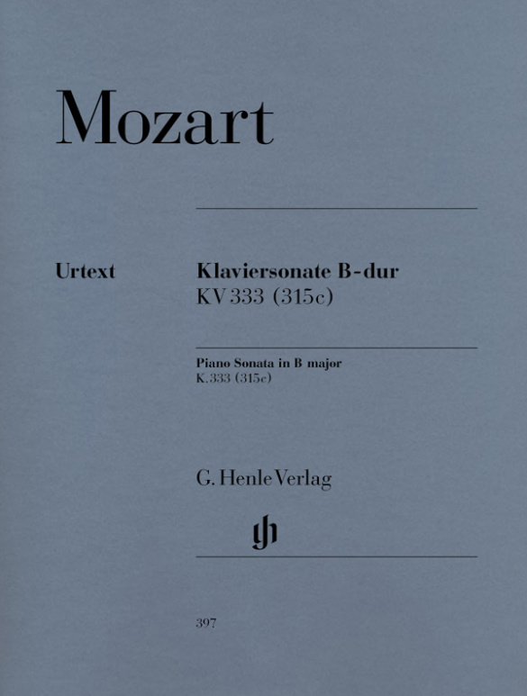 Mozart, Wolfgang Amadeus - Sonate B-Dur KV333 : für Klavier