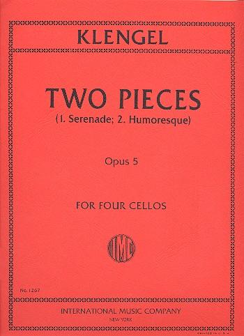 2 Pieces op.5: for 4 violoncellos score+parts