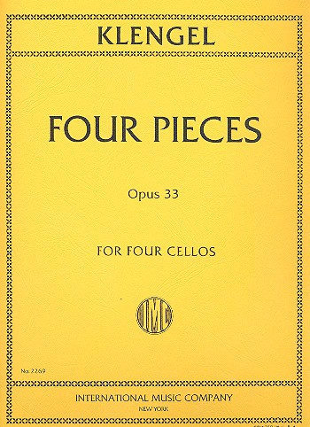 4 Pieces op.33: for 4 violoncellos