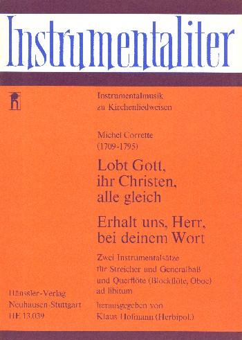 2 Instrumentalsaetze: für 2 Violinen, Viola und Bc