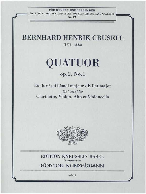 Quartett Es-Dur opus.2,1: für Klarinette und Streichtrio