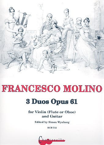 3 Duos opus.61 : for violin (flute, oboe) and guitar