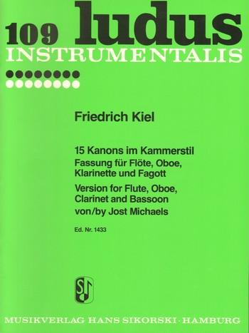 15 Kanons im Kammerstil: für Flöte, Oboe, Klarinette, Fagott