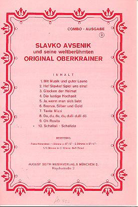 Slavko Avsenik und seine weltberühmten Original Oberkrainer: