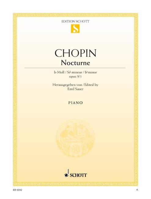 Chopin, Frédéric - Nocturne b-Moll op.9,1 : für