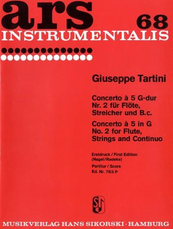 Concerto à 5 Nr.2 G-Dur: für Flöte und Streicher