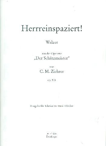 Herrreinspaziert opus.518 : Walzer für Klavier