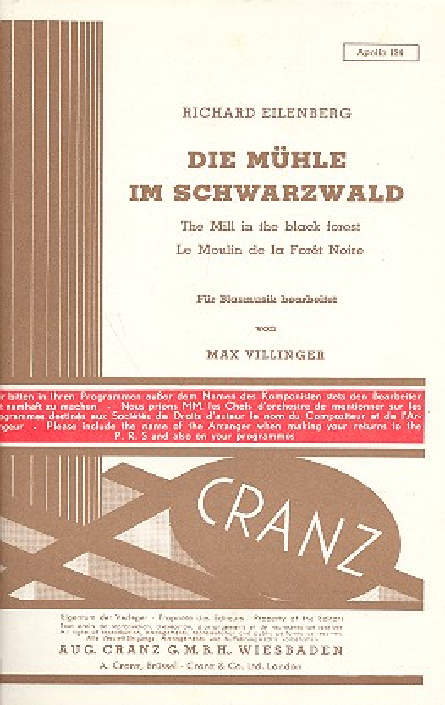Die Mühle im Schwarzwald: für Blasorchester