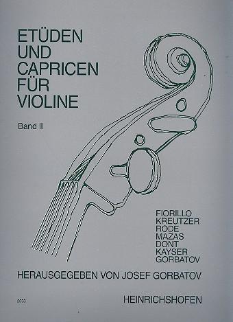 Etüden und Capricen Band 2: für Violine
