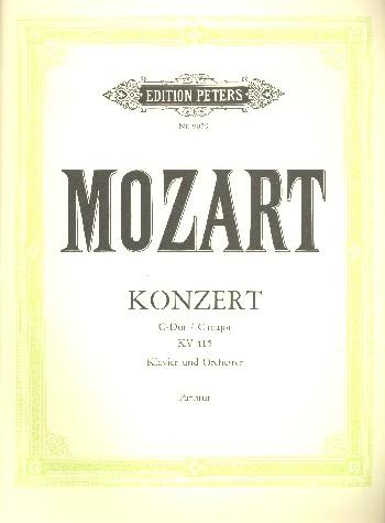 Kammerkonzert C-Dur KV415: für Klavier und Orchester