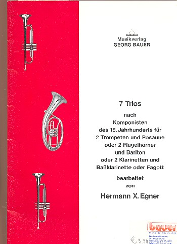 7 Trios nach Komponisten des 18. Jahrhunderts: für 2 Trompeten