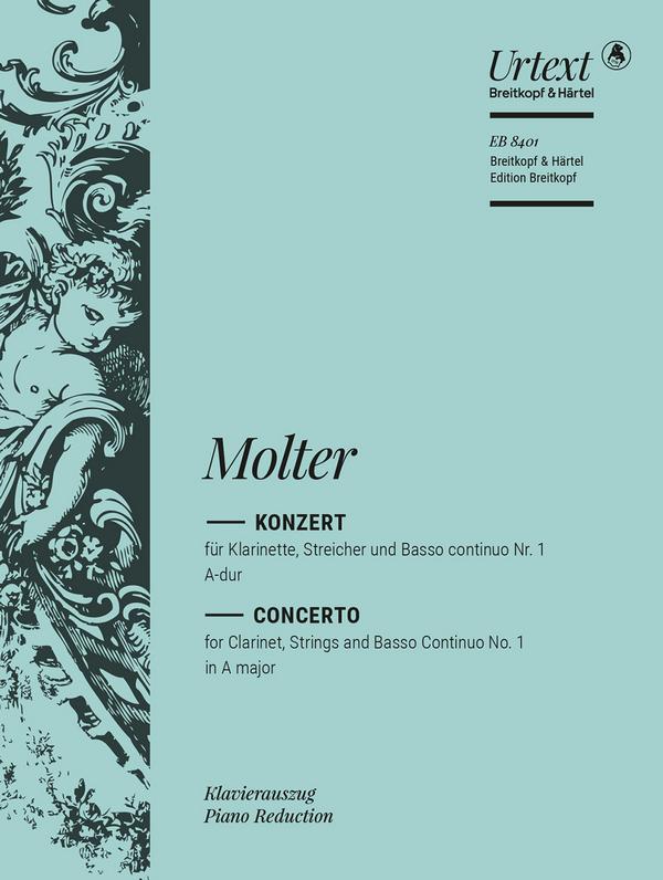 A-Dur Nr.1 für Klarinette, Streicher und Bc: