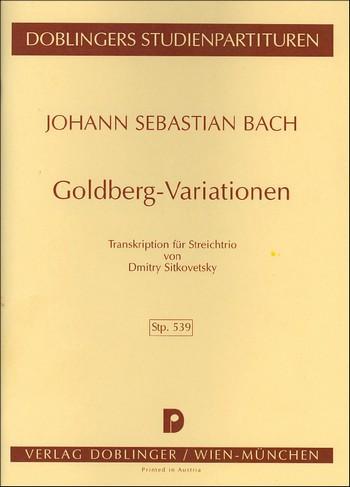 Goldberg-Variationen: Transkription für Streichtrio