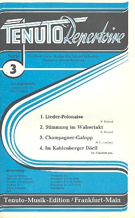 Tenuto Repertoire Serie 3: 4 weltbekannte Stücke für Salonorchester