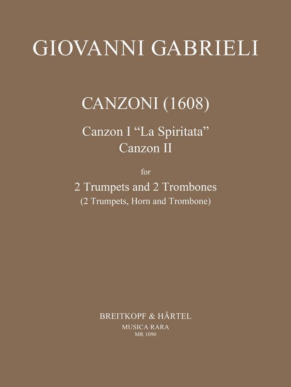 2 Canzonen: für 2 Trompeten (Trompete und Horn) und 2 Posaunen