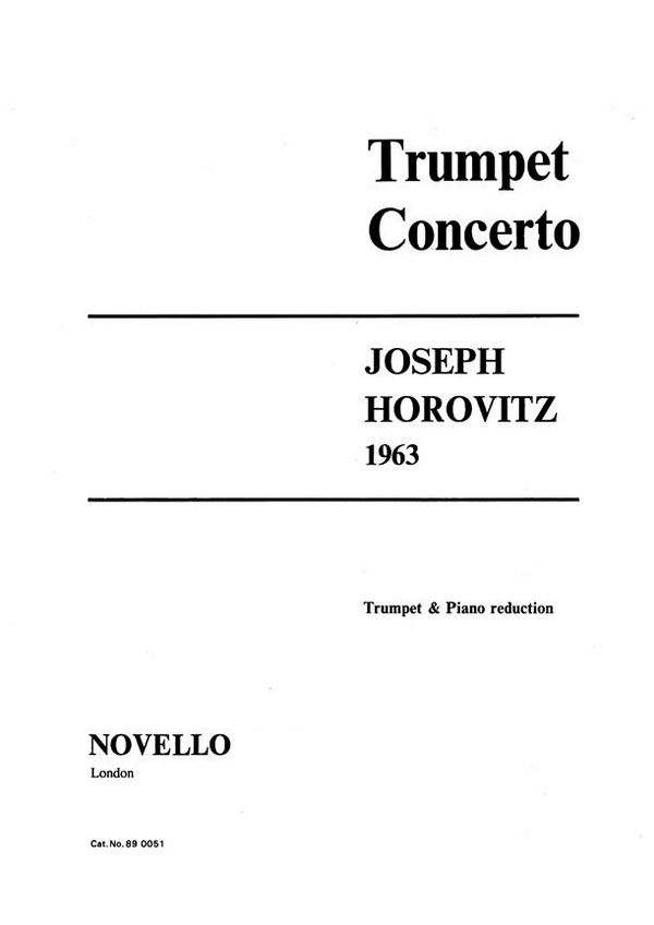 Concerto for trumpet and orchestre: for trumpet and piano