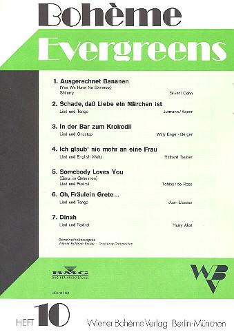 Bohème Evergreens Band 10
