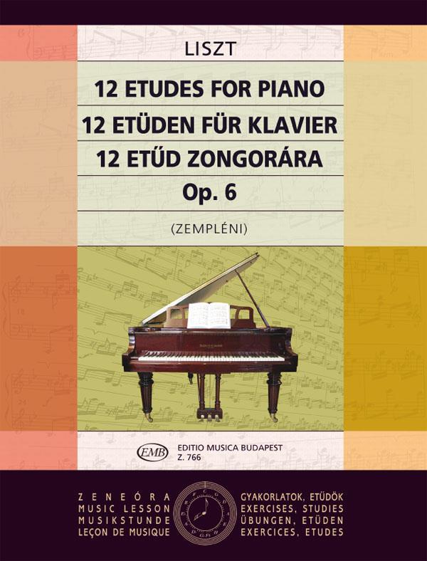 Liszt, Franz - 12 Etüden op.1 : für Klavier