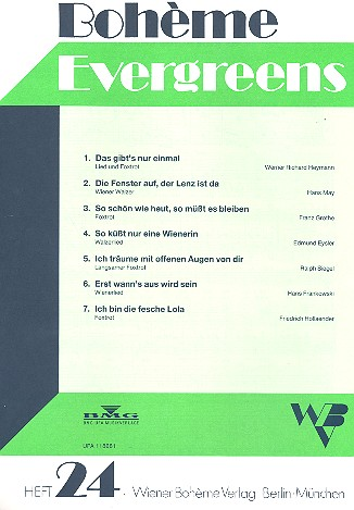 Boheme Evergreens Band 24
