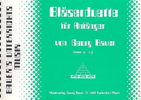 Bläserduette für Anfänger: Stimme in C im Violinschlüssel