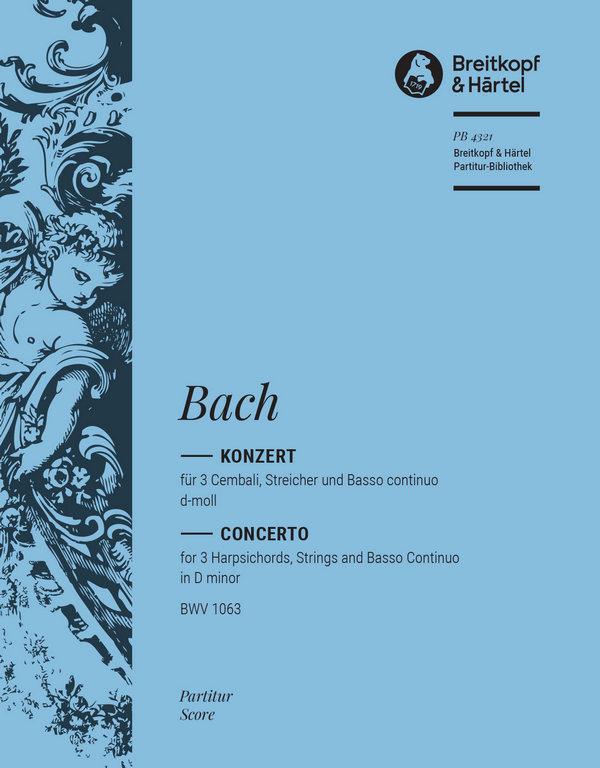 Bach, Johann Sebastian - Konzert d-Moll BWV1063 :
