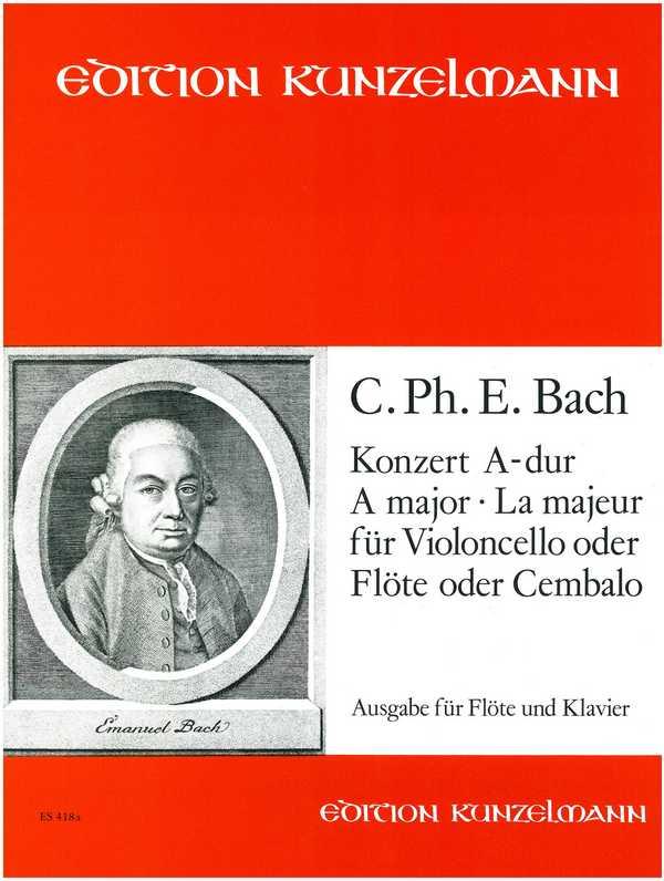 Bach, Carl Philipp Emanuel - Konzert A-Dur für Violoncello