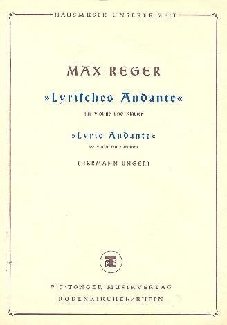 Reger, Max - Lyrisches Andante : für