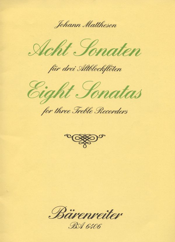 8 Sonaten: für 3 Altblockflöten