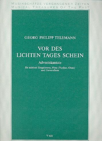 Telemann, Georg Philipp - Vor des lichten Tages Schein : für Gesang