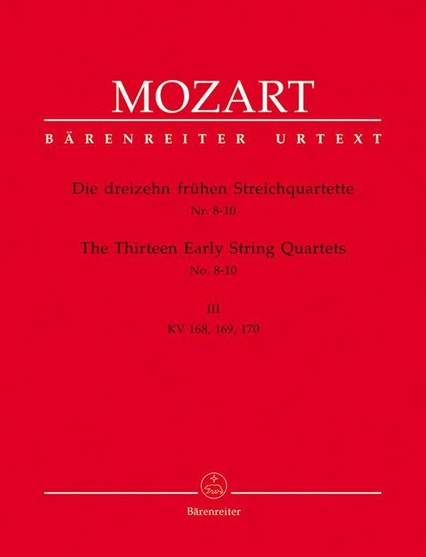 13 frühe Streichquartette Band 3 KV168-170,  Stimmen