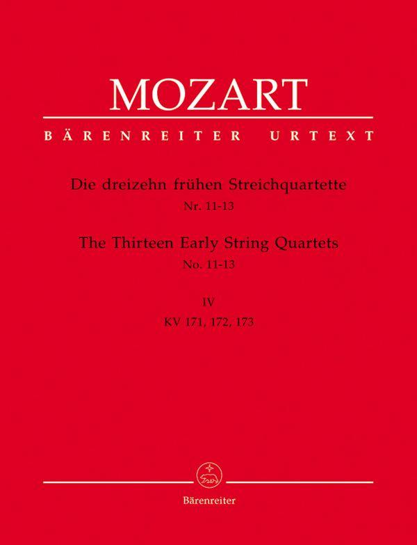 13 frühe Streichquartette Band 4 KV171-173, Stimmen