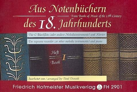 - Aus Notenbüchern des 18. Jahrhunderts Band 1 :