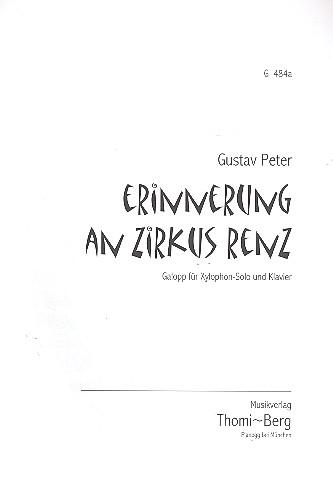 Erinnerung an Zirkus Renz: für Xylophon und Klavier