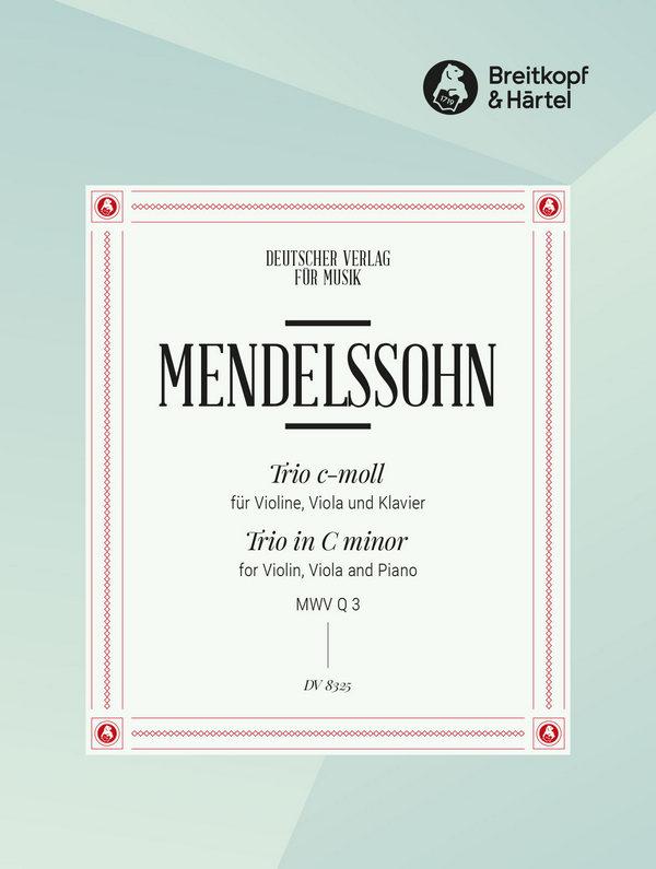 Mendelssohn-Bartholdy, Felix - Trio o.op. :