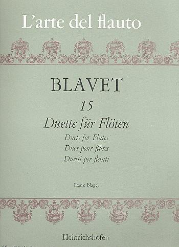 15 Duette: für 2 Flöten Spielpartitur