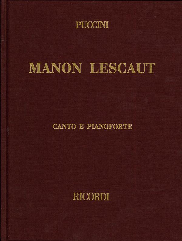 Manon Lescaut: Klavierauszug (it/en, gebunden)