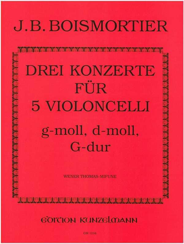 3 Konzerte: für 5 Violoncelli