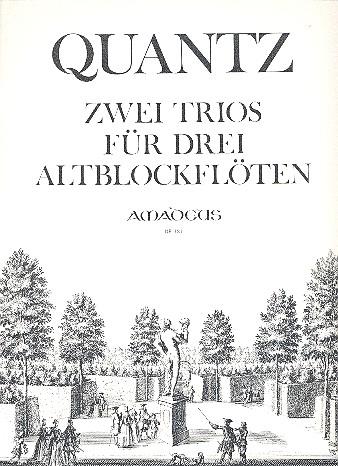 2 Trios: für 3 Altblockflöten Partitur und Stimmen