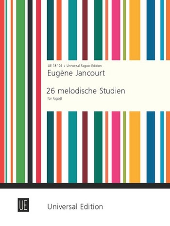 Jancourt, Louis-Marie-Eugène - 26 melodische Studien : für